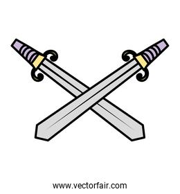 color swords medieval weapon steel design