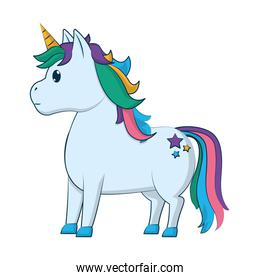 cute unicorn with stars tattoo style