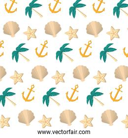 exotic marine plants and anchor background