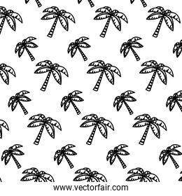 line tropical palm tree leaves background