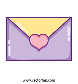 romantic love card with heart style
