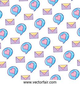 romantic chat bubble and card background