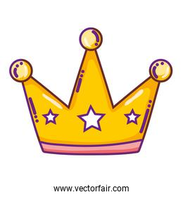 luxury crown object with stars style