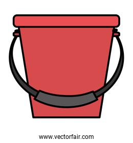 color plastic bucket object style icon