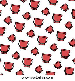color plastic bucket object style background