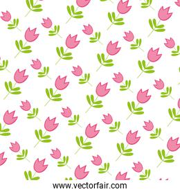 tropical flower plant with leaves background