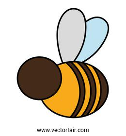 color cute bee insict animal flying