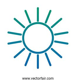 degraded line shine sun ray weather icon