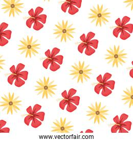 cute exotic flower and rose background