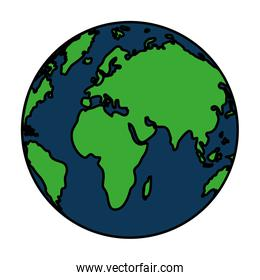 color global earth planet geography map