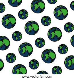 color global earth planet map background