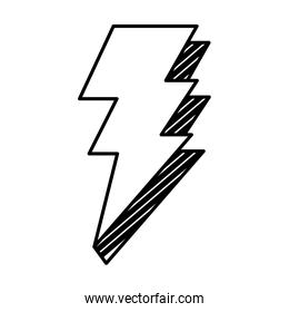 line electric thunder darger bolt symbol
