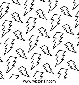 line electric thunder darger symbol background