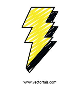 doodle electric thunder darger bolt symbol