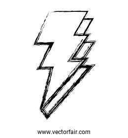 grunge electric thunder darger bolt symbol