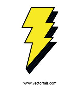 color electric thunder darger bolt symbol