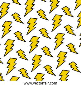 color electric thunder darger symbol background