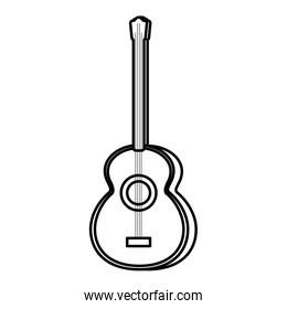 line art guitar play music object