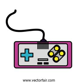 color videogame console simulator technology player