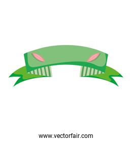 ecology ribbon with leaves decoration design