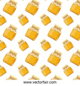 crystal glass with delicious honey background