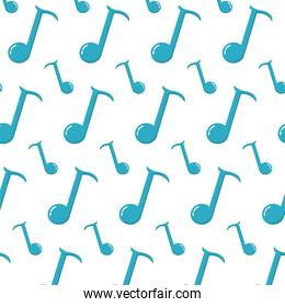 quarter musical note sign background