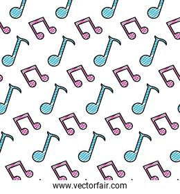 doodle 2 eighth note and quarter sign background