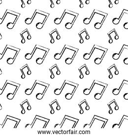 grunge 2 eighth musical note rhythm background