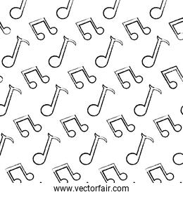 grunge 2 eighth note and quarter sign background