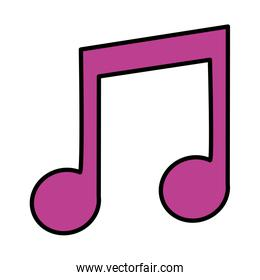 color 2 eighth musical note sign rhythm