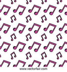 color 2 eighth musical note rhythm background