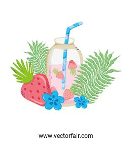 smoothie beverage with exotic plants style