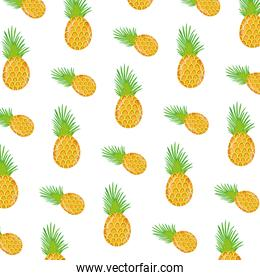 exotic pineapple tropical fruit background