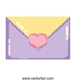pixelated love card with heart style