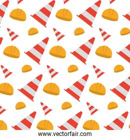 helmet object and traffic cone background