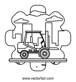 line industry forklift equipment construction service