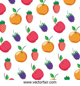 delicious fresh fruits nutrition background