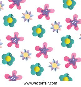 tropical flowers with petals style background