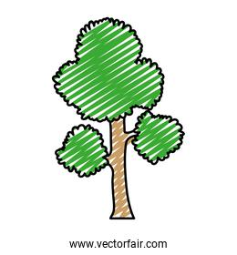 doodle exotic tree branches leaves stalk