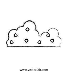 grunge nature fluffy beauty cloud icon