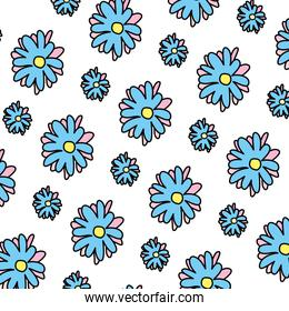 color nice flower with tropical petals background