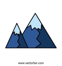 color nice mountain graphic texture design