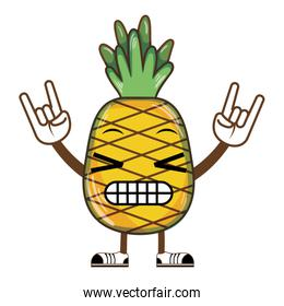 kawaii happy delicious pineapple fruit