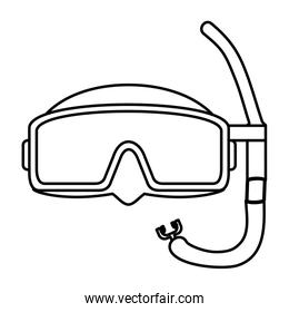 line diving mask style underwater equipment