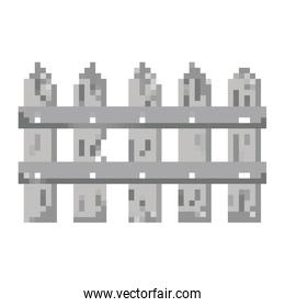 pixelated gray wood grillage structure