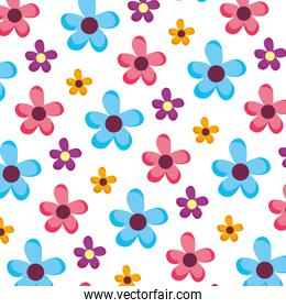 spring flower with exotic petals background