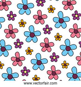 color spring flower with exotic petals background
