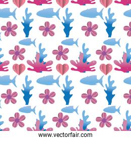 tropical flower with nature plant background