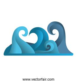 nature waves tropical ocean style