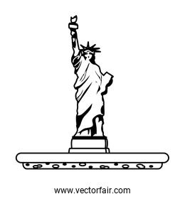 line statue liberty sculpture traditional history